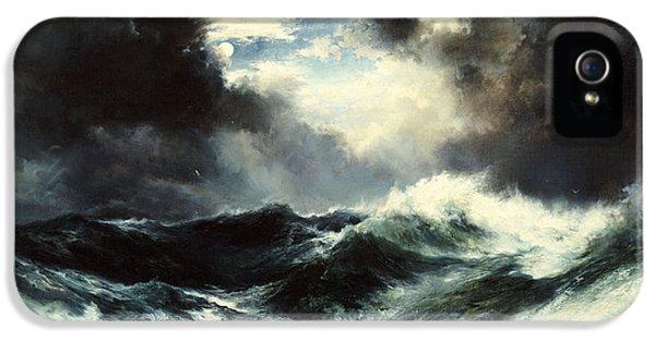 Moonlit Shipwreck At Sea IPhone 5 Case by Thomas Moran