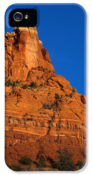 Moonrise iPhone 5 Cases - Moonrise over Red Rock iPhone 5 Case by Mike  Dawson