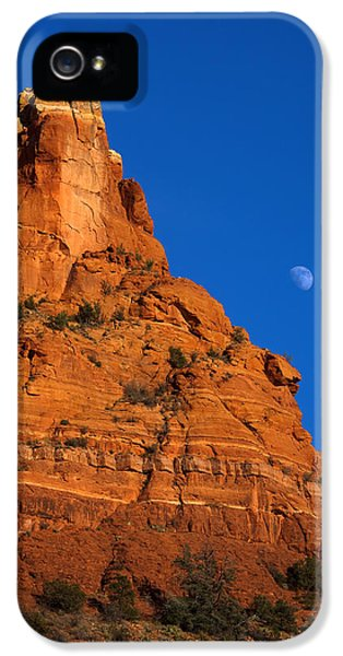 Moonrise Over Red Rock IPhone 5 Case