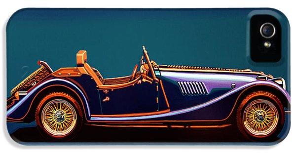 Morgan Roadster 2004 Painting IPhone 5 Case by Paul Meijering