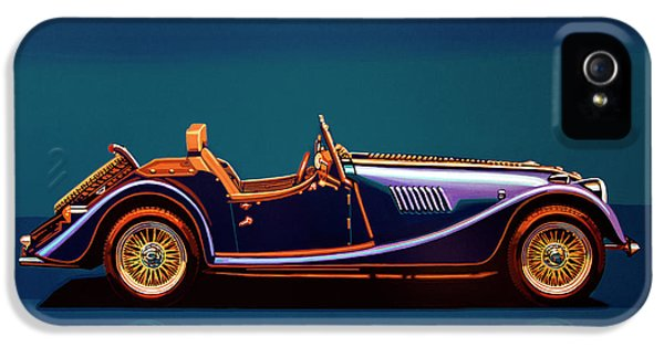 Morgan Roadster 2004 Painting IPhone 5 Case by Paul Meijering
