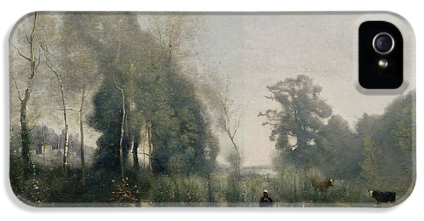 Morning At Ville Davray IPhone 5 Case by Jean Baptiste Camille Corot