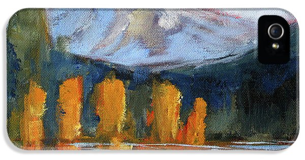 IPhone 5 Case featuring the painting Morning Light Mountain Landscape Painting by Nancy Merkle