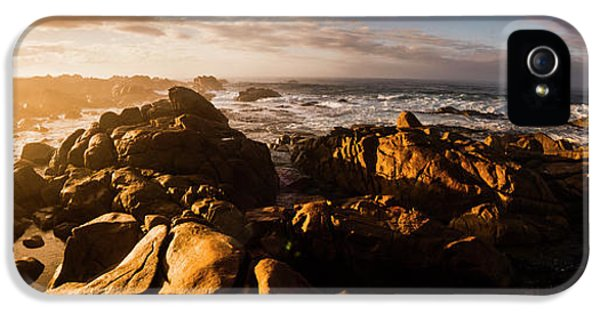 IPhone 5 Case featuring the photograph Morning Ocean Panorama by Jorgo Photography - Wall Art Gallery