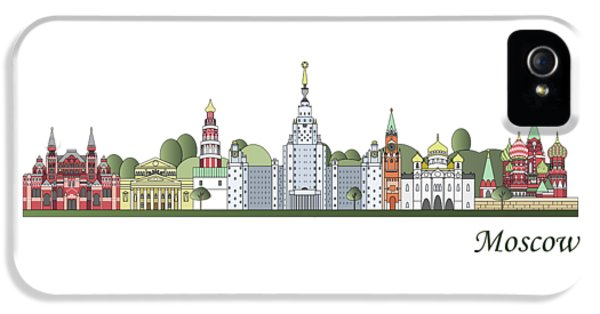 Moscow Skyline Colored IPhone 5 Case