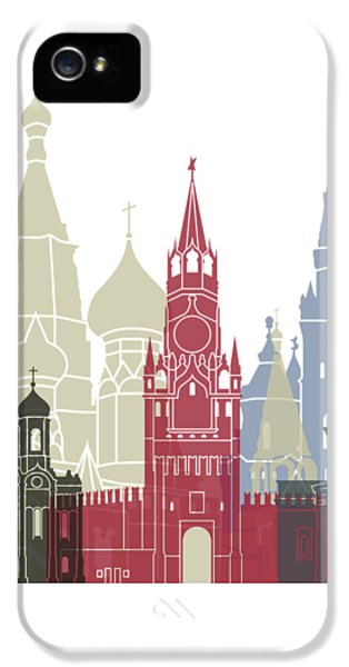 Moscow Skyline Poster IPhone 5 Case
