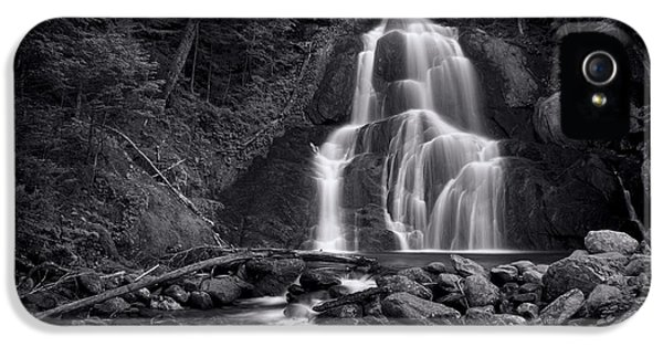 Moss Glen Falls - Monochrome IPhone 5 Case by Stephen Stookey