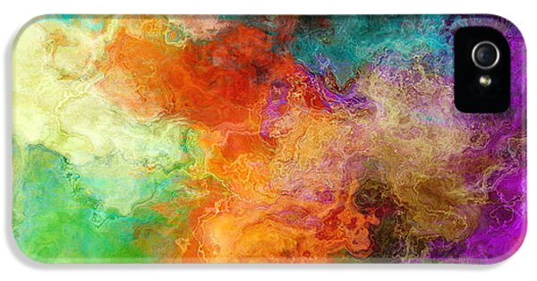 Mother Earth - Abstract Art IPhone 5 Case by Jaison Cianelli