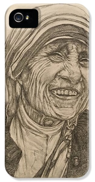 Mother Theresa Kindness IPhone 5 Case by Kent Chua