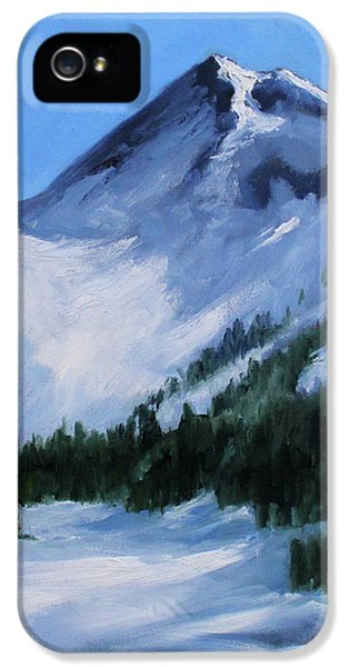 IPhone 5 Case featuring the painting Mount Baker Glacier by Nancy Merkle