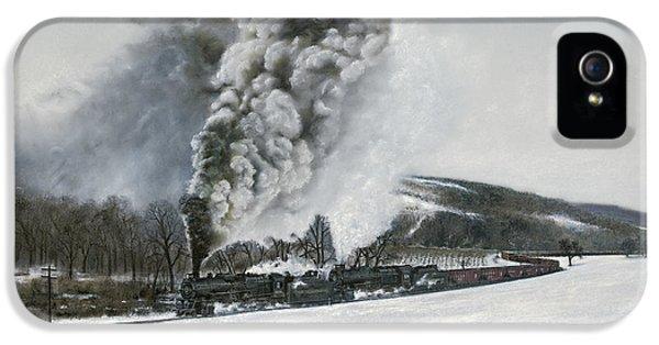Train iPhone 5 Case - Mount Carmel Eruption by David Mittner