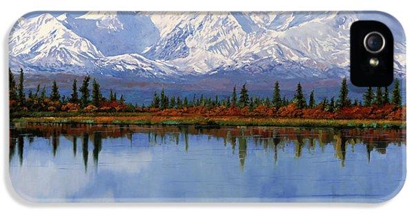 mount Denali in Alaska IPhone 5 Case by Guido Borelli
