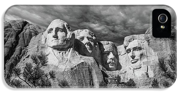 Mount Rushmore II IPhone 5 Case by Tom Mc Nemar