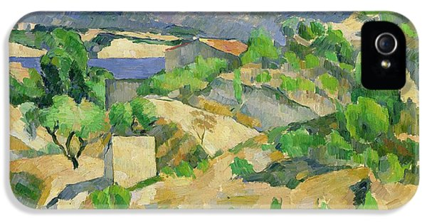 Mountains In Provence IPhone 5 Case by Paul Cezanne