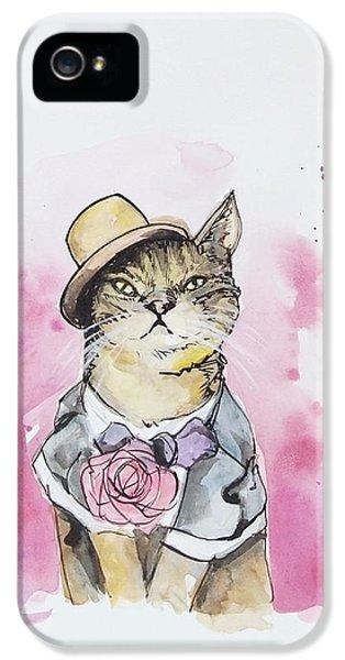 Mr Cat In Costume IPhone 5 Case by Venie Tee