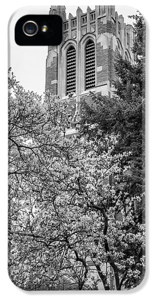 Msu Beaumont Tower Black And White 3 IPhone 5 Case