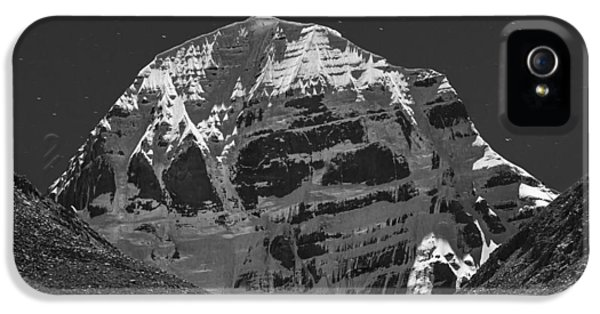Mt. Kailash In Moonlight IPhone 5 Case by Hitendra SINKAR