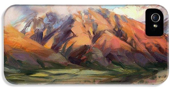 Mount Rushmore iPhone 5 Case - Mt Nebo Range by Steve Henderson