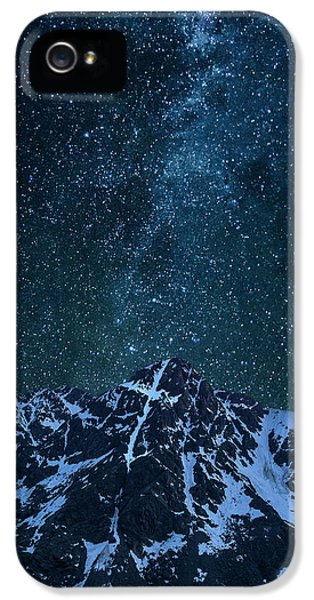 IPhone 5 Case featuring the photograph Mt. Of The Holy Cross Milky Way by Aaron Spong