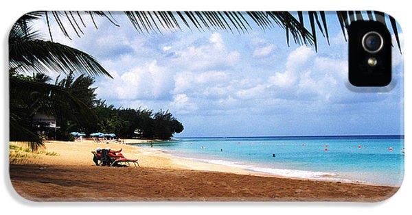 Mullens Beach Barbados IPhone 5 Case by Thomas R Fletcher