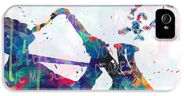 Saxophone iPhone 5 Case - Music  by Mark Ashkenazi