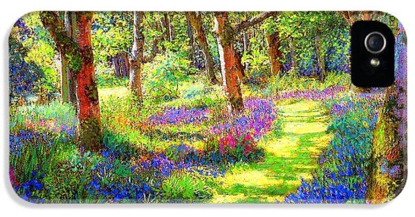 Music Of Light, Bluebell Woods IPhone 5 Case by Jane Small