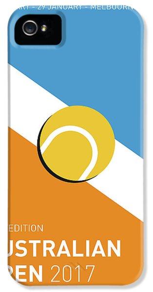 My Grand Slam 01 Australian Open 2017 Minimal Poster IPhone 5 Case by Chungkong Art