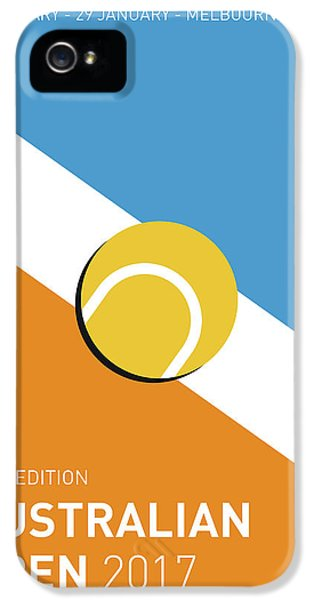 My Grand Slam 01 Australian Open 2017 Minimal Poster IPhone 5 Case by Chungkong Art
