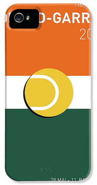 My Grand Slam 02 Rolandgarros 2017 Minimal Poster IPhone 5 Case by Chungkong Art