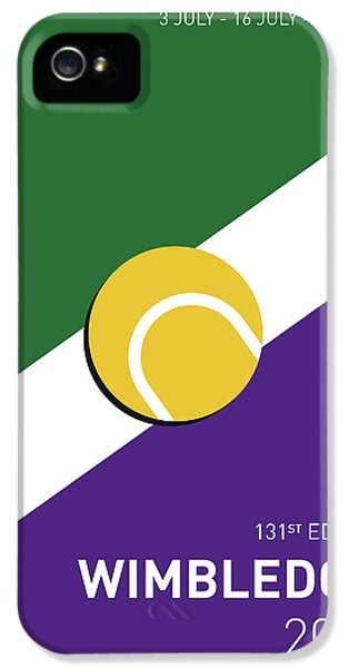 My Grand Slam 03 Wimbeldon Open 2017 Minimal Poster IPhone 5 Case by Chungkong Art
