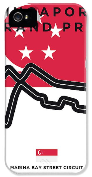 My Singapore Grand Prix Minimal Poster IPhone 5 Case