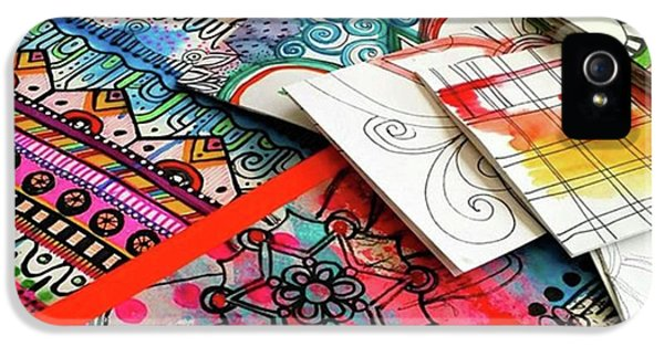 iPhone 5 Case - My Table When Im Making Journals...this by Robin Mead