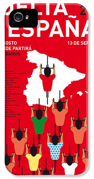 My Vuelta A Espana Minimal Poster Etapas 2015 IPhone 5 Case by Chungkong Art