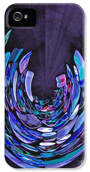 IPhone 5 Case featuring the photograph Mystery In Blue And Purple by Nareeta Martin