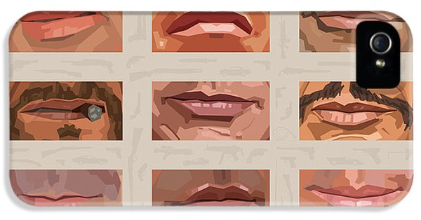 Mystery Mouths Of The Action Genre IPhone 5 / 5s Case by Mitch Frey