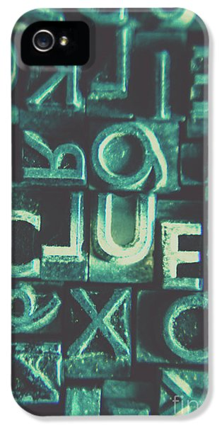 Mystery Writer Clue IPhone 5 Case by Jorgo Photography - Wall Art Gallery