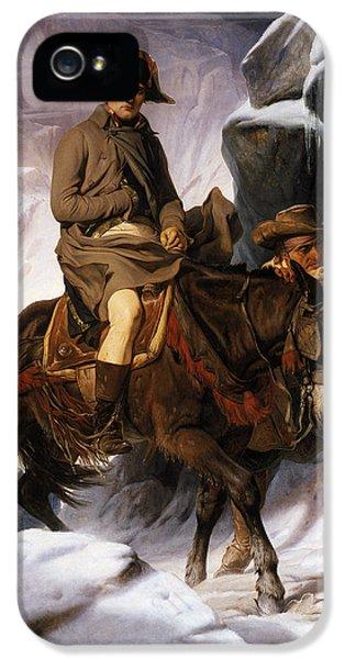 Napoleon Crossing The Alps IPhone 5 Case by Hippolyte Delaroche