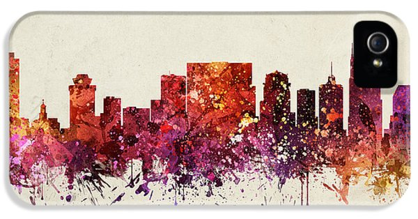Nashville Cityscape 09 IPhone 5 Case by Aged Pixel