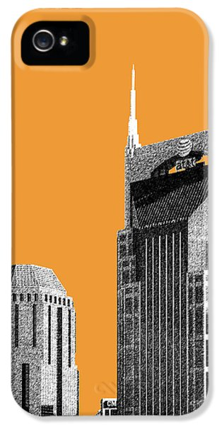 Nashville Skyline At And T Batman Building - Orange IPhone 5 Case