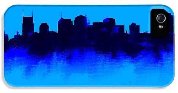 Nashville  Skyline Blue  IPhone 5 Case by Enki Art