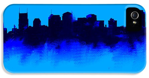 Nashville  Skyline Blue  IPhone 5 Case by Enki Art
