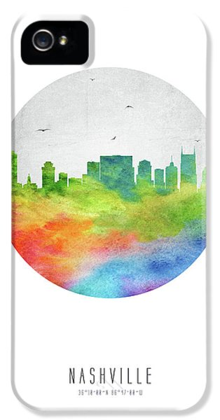 Nashville Skyline Ustnna20 IPhone 5 Case by Aged Pixel
