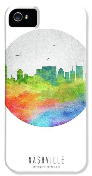 Nashville Skyline Ustnna20 IPhone 5 / 5s Case by Aged Pixel