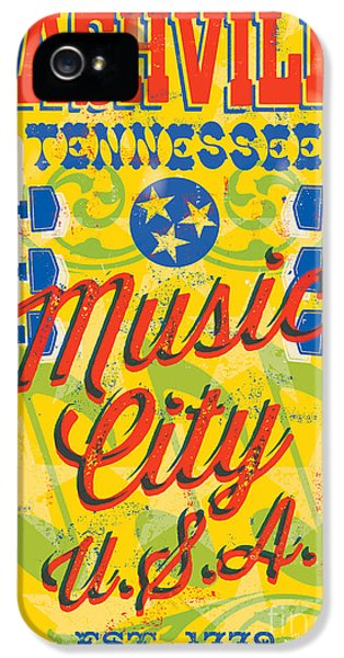 Johnny Cash iPhone 5 Case - Nashville Tennessee Poster by Jim Zahniser