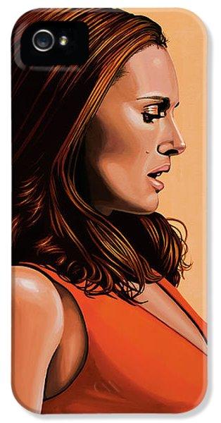 Natalie Portman 2 IPhone 5 Case by Paul Meijering