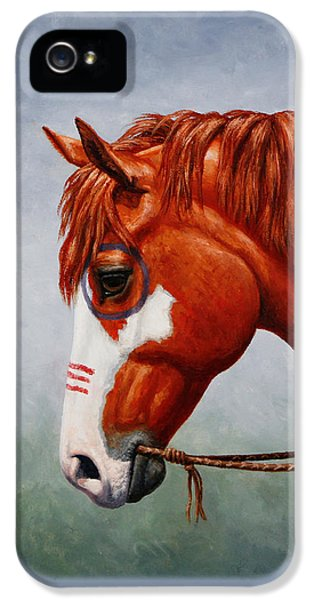 Native American War Horse Phone Case IPhone 5 Case by Crista Forest