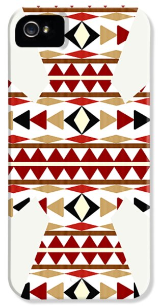 Navajo White Pattern Art IPhone 5 Case by Christina Rollo