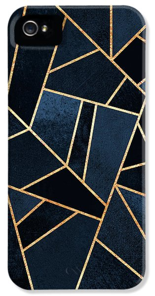 iPhone 5 Case - Navy Stone by Elisabeth Fredriksson