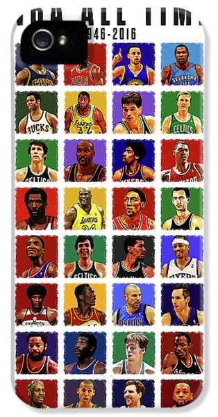 Nba All Times IPhone 5 Case by Semih Yurdabak