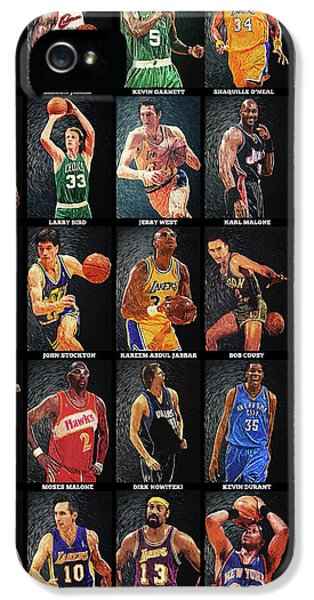 Magic Johnson iPhone 5 Case - Nba Legends by Taylan Apukovska